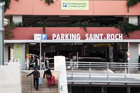 Tarifs du dépose-minute du parking Saint-Roch