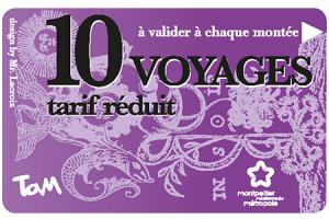 10 voyages tarif réduit